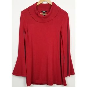 3/$25 Alfani medium red sweater cowl neck